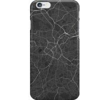 Birmingham, England Map. (White on black) iPhone Case/Skin