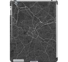 Birmingham, England Map. (White on black) iPad Case/Skin