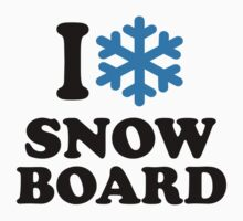 I love snowboard snow by Designzz
