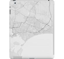 Bournemouth, England Map. (Black on white) iPad Case/Skin