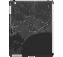 Bournemouth, England Map. (White on black) iPad Case/Skin