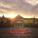 "Naples, Piazza del Plebiscito with ""Europe"" (1) by Rachel Veser"