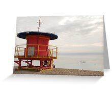no lifeguard on duty Greeting Card