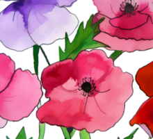 Poppies Amapolas Hand-painted Sticker