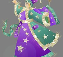 wizard stars magic sorcerer  by MAZYTUP
