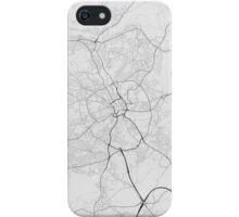 Bradford, England Map. (Black on white) iPhone Case/Skin