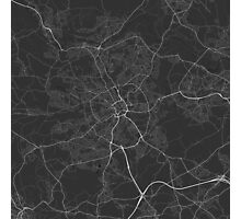 Bradford, England Map. (White on black) Photographic Print