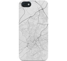 Bristol, England Map. (Black on white) iPhone Case/Skin