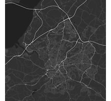 Bristol, England Map. (White on black) Photographic Print