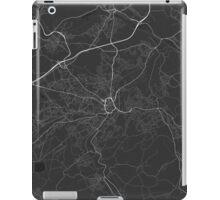 Huddersfield, England Map. (White on black) iPad Case/Skin
