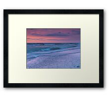 Beautiful tranquil sunset nature scenery of lake Huron Canada art photo print Framed Print