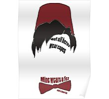 Mine wears a fez Poster