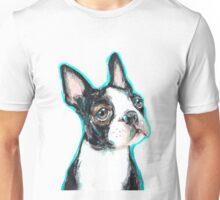 Boston Terrier Dog Drawing Unisex T-Shirt