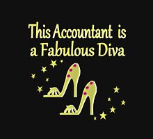GOLD ACCOUNTANT BY DAY DIVA BY NIGHT Women's Fitted Scoop T-Shirt
