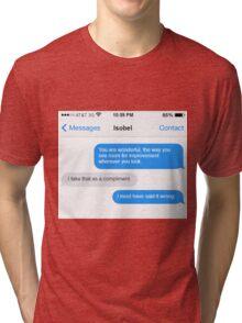 Dowager Texts: Violet burns Mrs. Crawley  Tri-blend T-Shirt