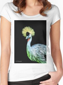 Grey Crowned Crane Women's Fitted Scoop T-Shirt