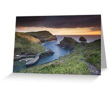Cornwall - Boscastle Sunset Greeting Card
