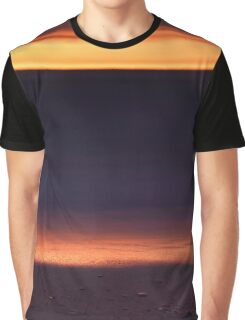 Beautiful golden sunset reflecing in the shore line of lake Huron art photo print Graphic T-Shirt