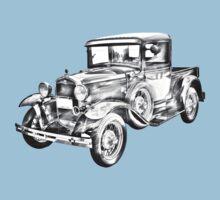 1930 Model A Ford Pickup Truck Illustration Kids Tee