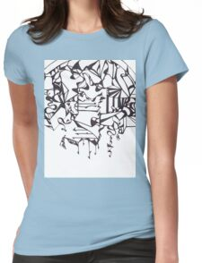 Psychedelic Twisted Lines Womens Fitted T-Shirt