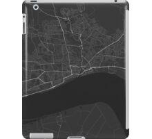 Hull, England Map. (White on black) iPad Case/Skin