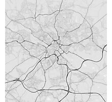 Leeds, England Map. (Black on white) Photographic Print