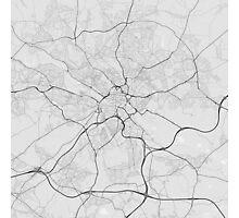 Leeds, England Map. (Black on white) Photographic Print