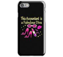 PINK FABULOUS ACCOUNTANT DIVA DESIGN iPhone Case/Skin