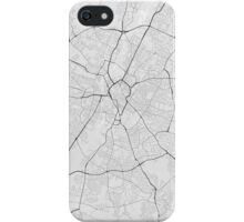 Leicester, England Map. (Black on white) iPhone Case/Skin