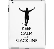 Keep Calm and Slackline iPad Case/Skin