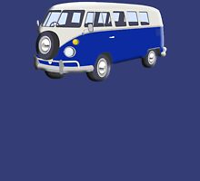 Volkswagen Van, VW Bus, Navy Blue, Camper, Split screen, 1966 Volkswagen, Kombi (North America) Unisex T-Shirt