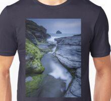 Cornwall- Trebarwith Strand Blues Unisex T-Shirt