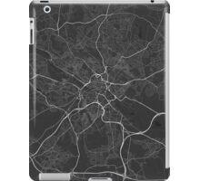 Leeds, England Map. (White on black) iPad Case/Skin