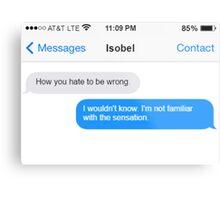 Dowager Texts: Burning Isobel again Metal Print