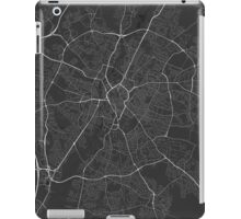 Leicester, England Map. (White on black) iPad Case/Skin
