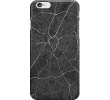 Leicester, England Map. (White on black) iPhone Case/Skin