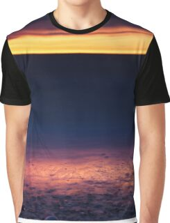 Golden sunset reflecing in the sandy shore of lake Huron art photo print Graphic T-Shirt
