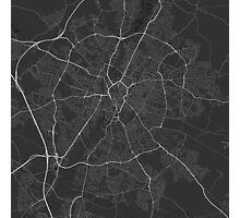 Leicester, England Map. (White on black) Photographic Print