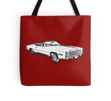 1975 Cadillac Eldorado Convertible Illustration Tote Bag