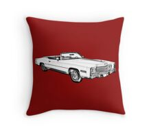 1975 Cadillac Eldorado Convertible Illustration Throw Pillow