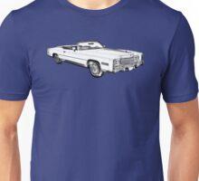 1975 Cadillac Eldorado Convertible Illustration Unisex T-Shirt