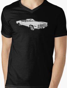 1975 Cadillac Eldorado Convertible Illustration Mens V-Neck T-Shirt