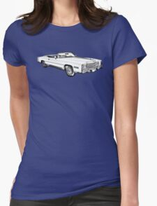 1975 Cadillac Eldorado Convertible Illustration Womens Fitted T-Shirt