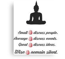 Wisdom of mind Canvas Print