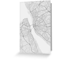 Liverpool, England Map. (Black on white) Greeting Card