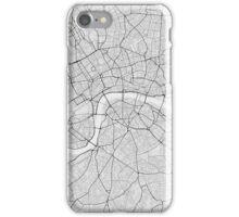 London, England Map. (Black on white) iPhone Case/Skin