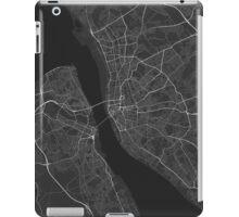 Liverpool, England Map. (White on black) iPad Case/Skin