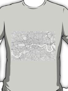 London, England Map. (Black on white) T-Shirt