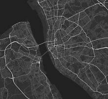 Liverpool, England Map. (White on black) by Graphical-Maps