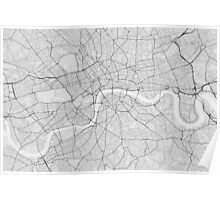 London, England Map. (Black on white) Poster